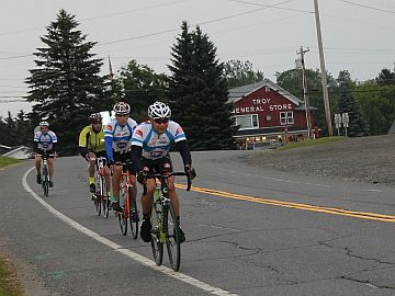 Riders climbing out of North Troy